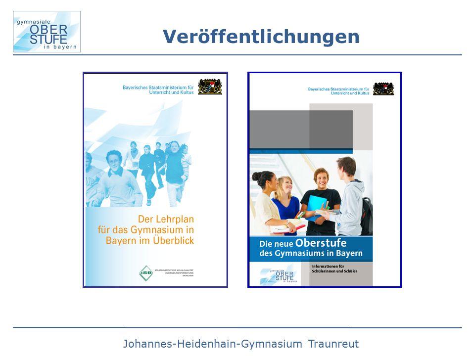 Johannes-Heidenhain-Gymnasium Traunreut Veröffentlichungen