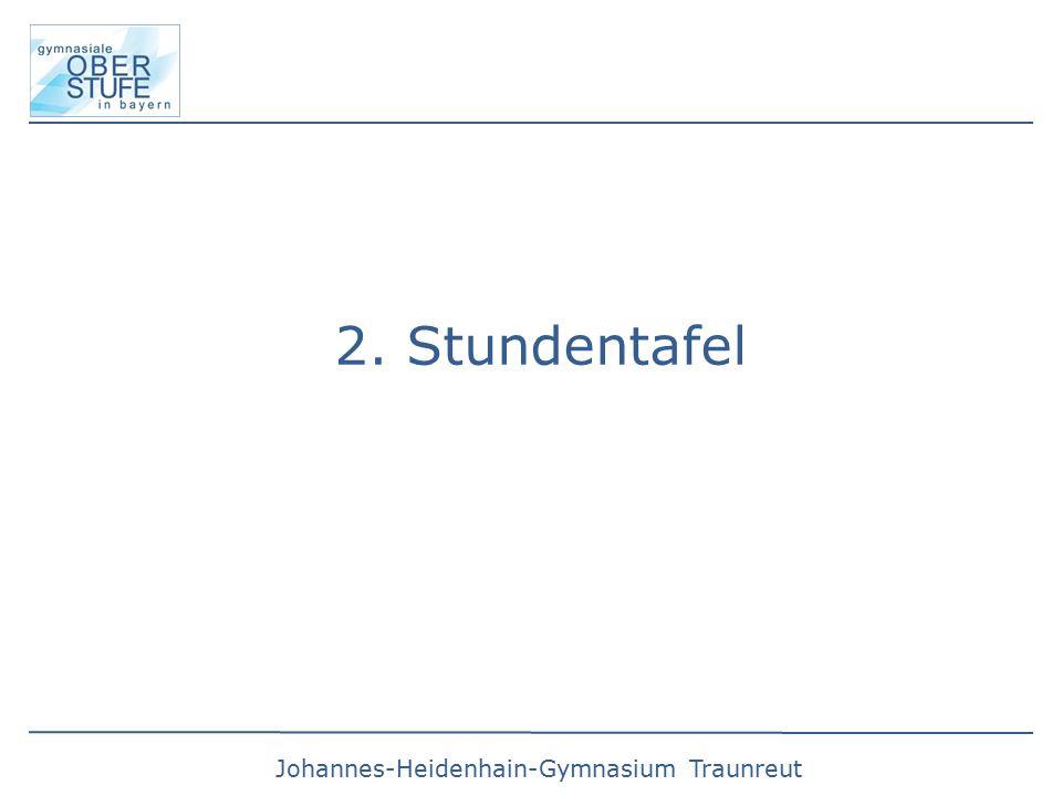Johannes-Heidenhain-Gymnasium Traunreut 2. Stundentafel