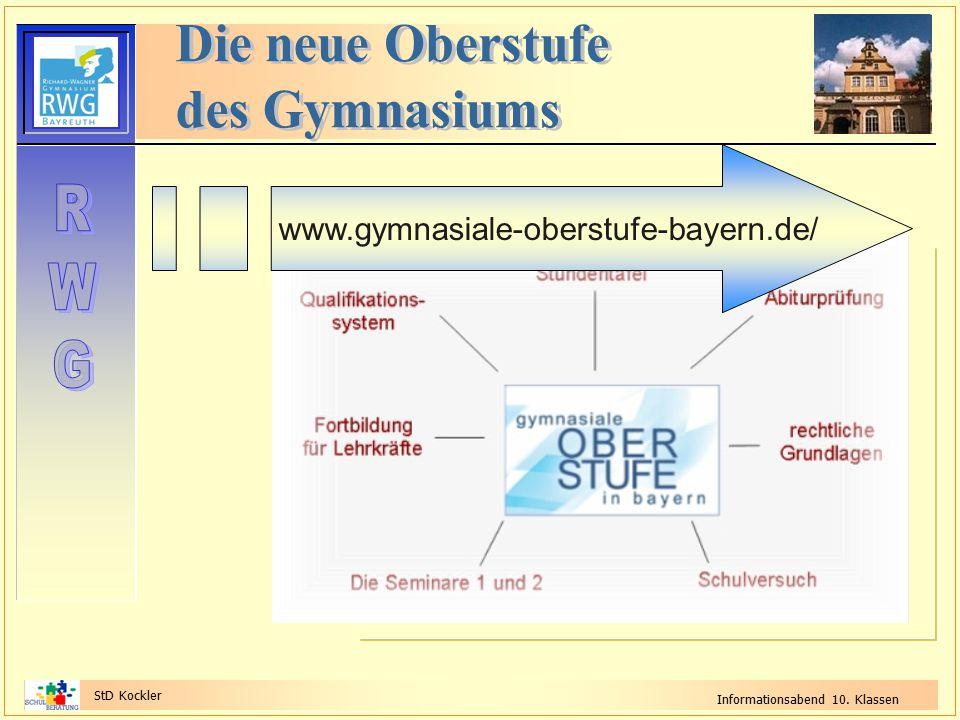 StD Kockler Informationsabend 10. Klassen www.gymnasiale-oberstufe-bayern.de/