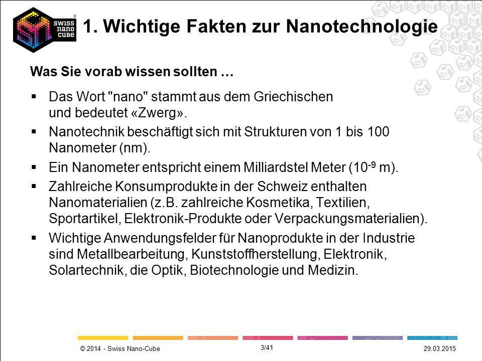 © 2014 - Swiss Nano-Cube 29.03.2015  Das Wort