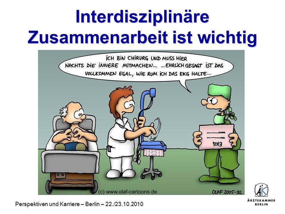 Perspektiven und Karriere – Berlin – 22./23.10.2010 Interdisziplinäre Zusammenarbeit ist wichtig