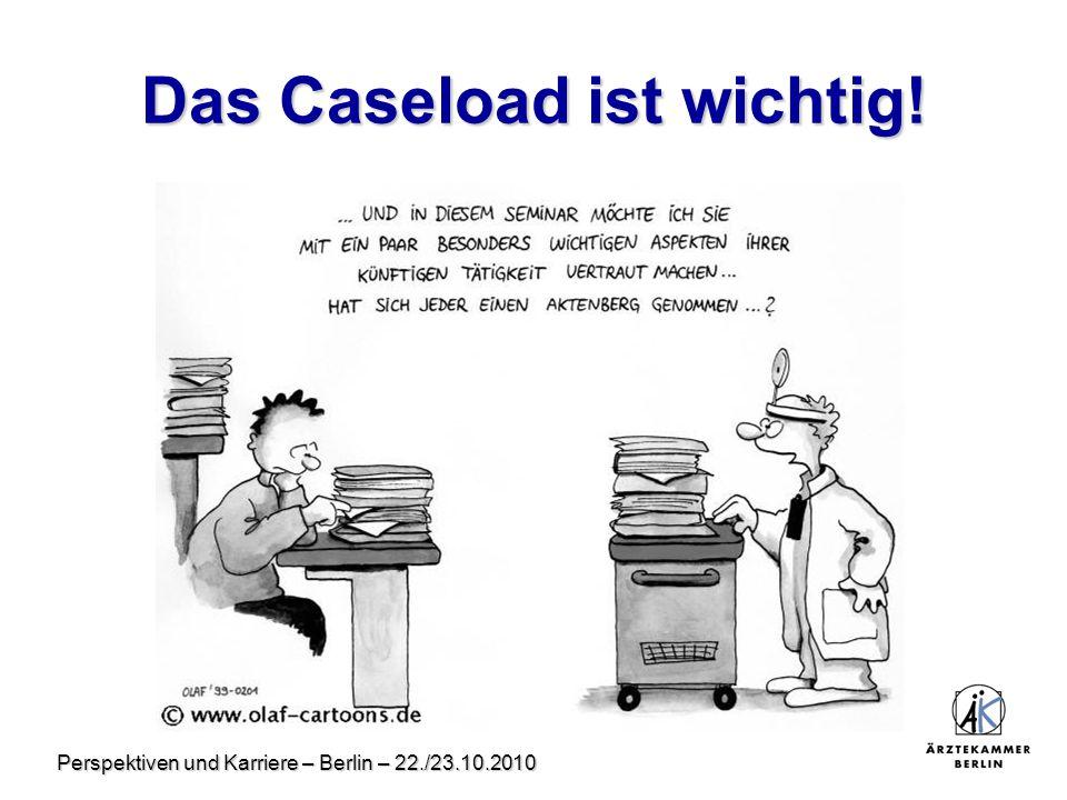 Perspektiven und Karriere – Berlin – 22./23.10.2010 Das Caseload ist wichtig!