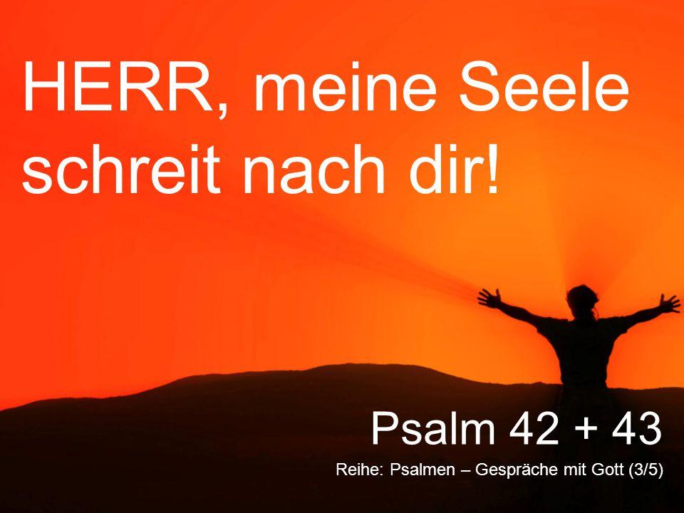 HERR, meine Seele schreit nach dir! Reihe: Psalmen – Gespräche mit Gott (3/5) Psalm 42 + 43