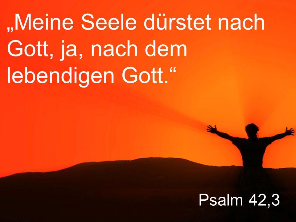 """Psalm 42,3 """"Meine Seele dürstet nach Gott, ja, nach dem lebendigen Gott."""