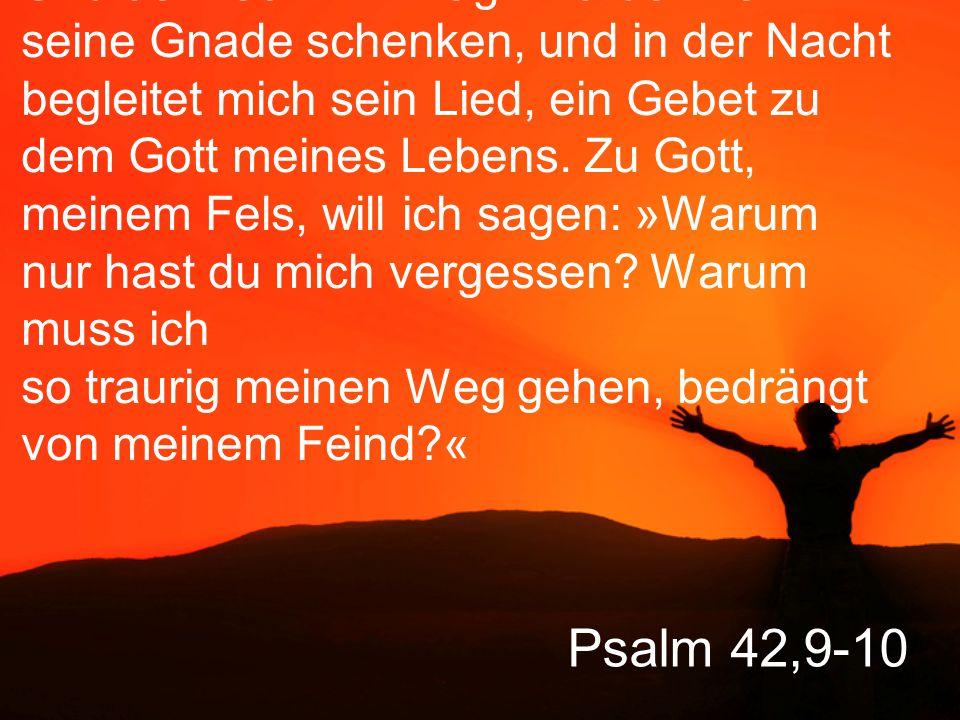 Psalm 42,11 Der Hohn meiner Feinde zerfrisst mich wie eine tödliche Krankheit.