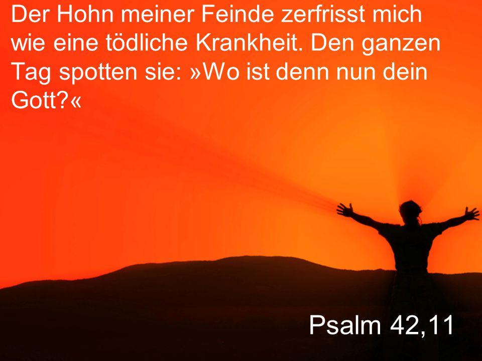 Psalm 42,12 Warum bist du so bedrückt, meine Seele.