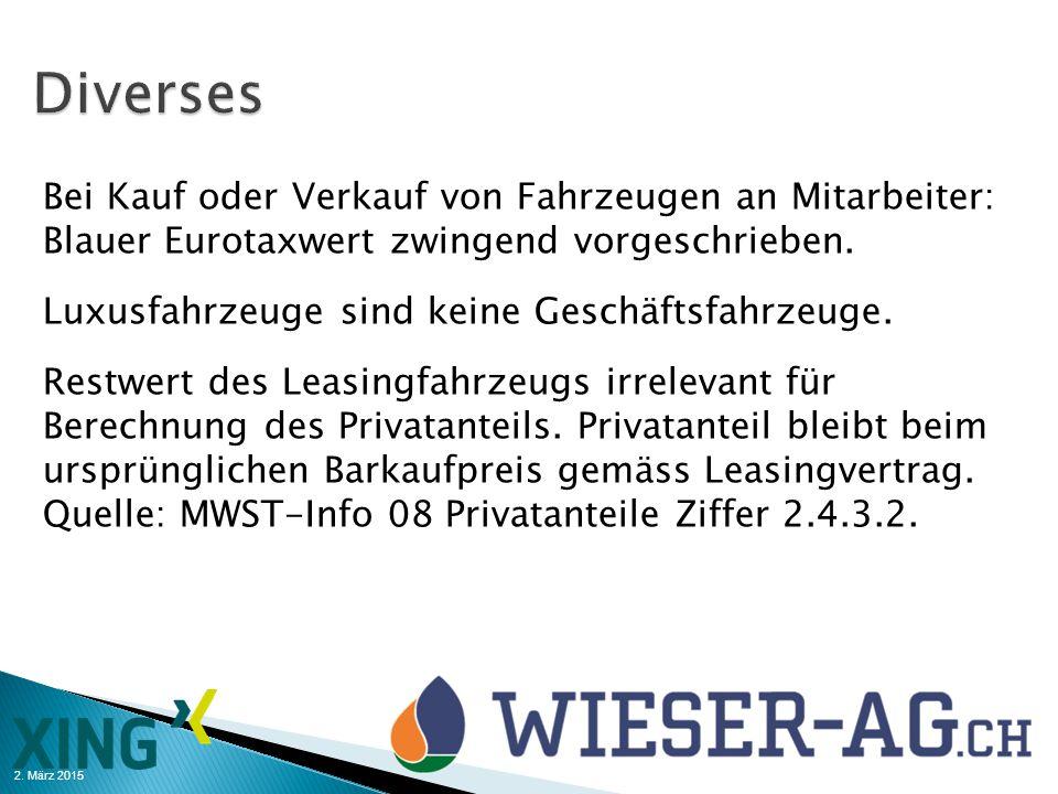 2. März 2015 Bei Kauf oder Verkauf von Fahrzeugen an Mitarbeiter: Blauer Eurotaxwert zwingend vorgeschrieben. Luxusfahrzeuge sind keine Geschäftsfahrz