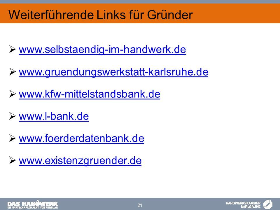  www.selbstaendig-im-handwerk.de www.selbstaendig-im-handwerk.de  www.gruendungswerkstatt-karlsruhe.de www.gruendungswerkstatt-karlsruhe.de  www.kf