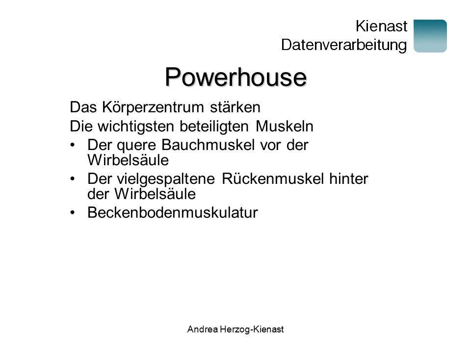 Andrea Herzog-Kienast Powerhouse Das Körperzentrum stärken Die wichtigsten beteiligten Muskeln Der quere Bauchmuskel vor der Wirbelsäule Der vielgespa