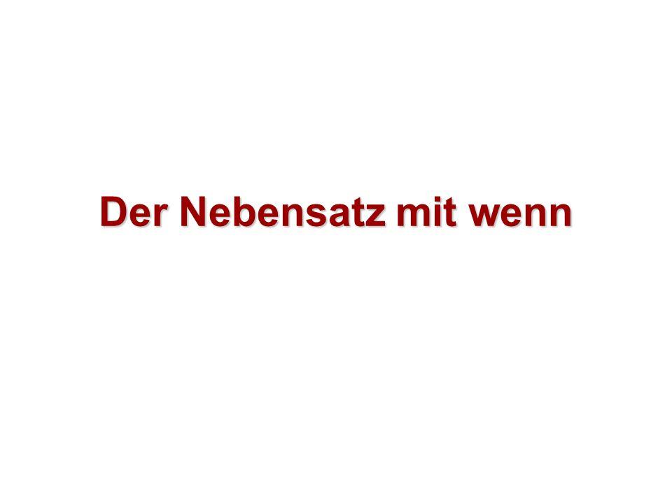 Jaký je rozdíl mezi větou hlavní a vedlejší.Ich lerne heute Deutsch.