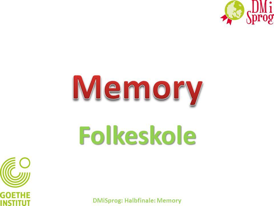 Folkeskole DMiSprog: Halbfinale: Memory