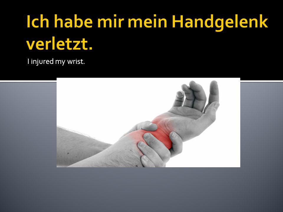 I injured my wrist.