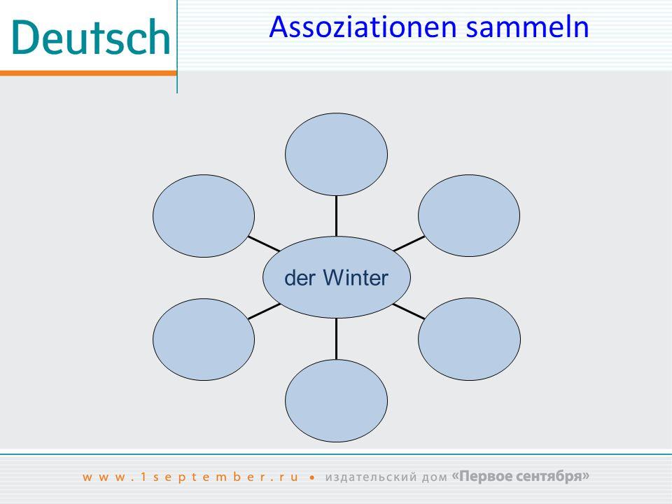 Assoziationen sammeln der Winter
