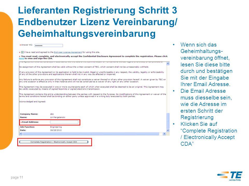 Lieferanten Registrierung Request Application Access page 12 Setzen Sie einen Hacken für die gewünschten Anwendungen im Supplier Portal und klicken Sie auf Submit Request .