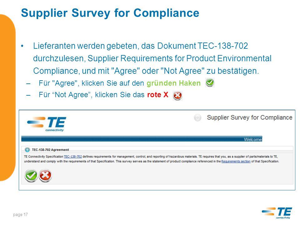 Supplier Survey for Compliance SSC Übersicht page 18