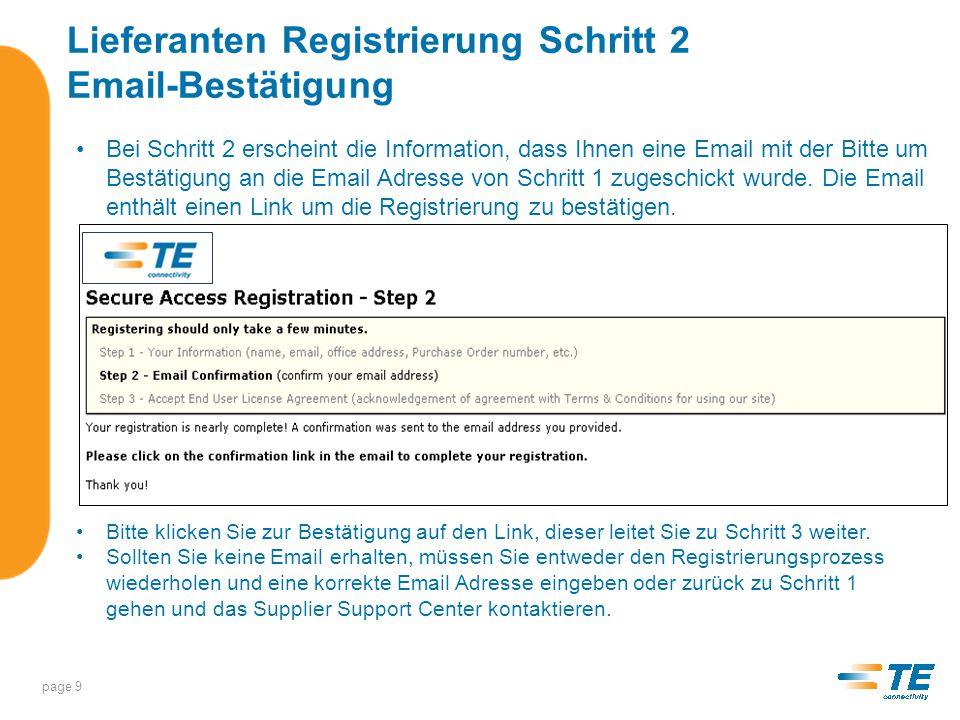 Lieferanten Registrierung Schritt 3 Endbenutzer Lizenz Vereinbarung/ Geheimhaltungsvereinbarung Schritt 3 – hier wird das Passwort, das Sie in Schritt 1 festgelegt haben, nochmals eingeben.