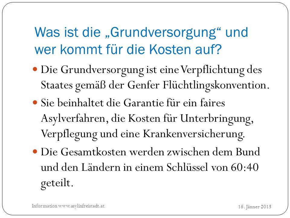 Wieviel bekommen die Flüchtlinge in Freistadt.18.