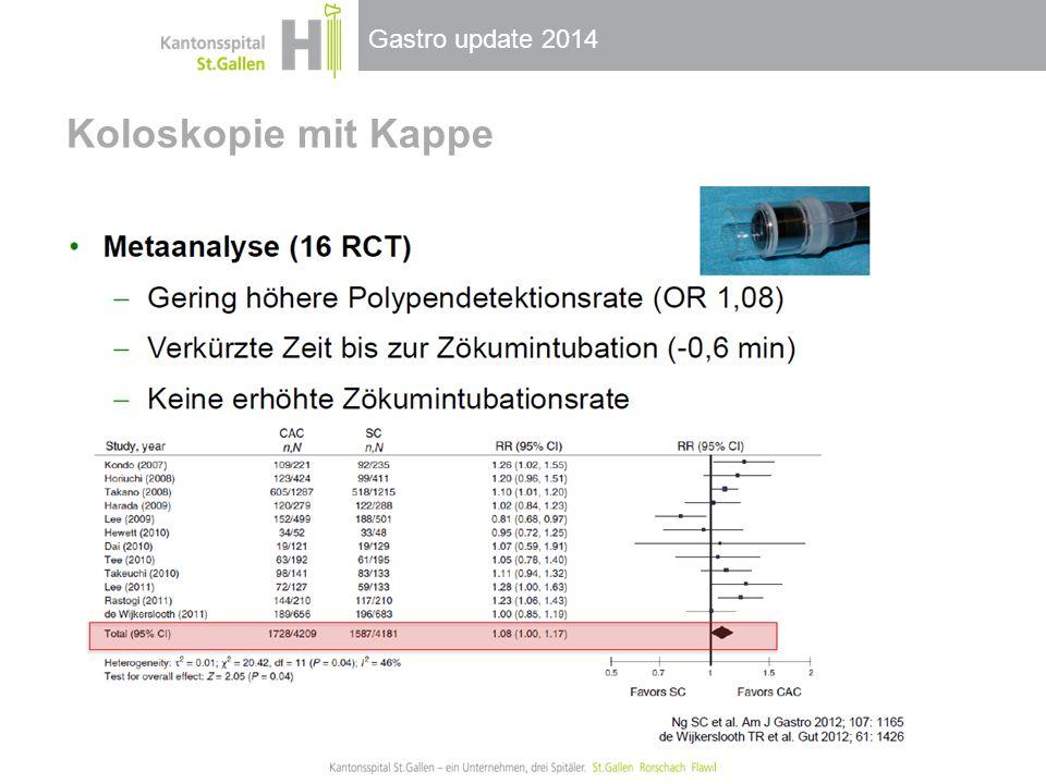 Gastro update 2014 Koloskopie mit Kappe