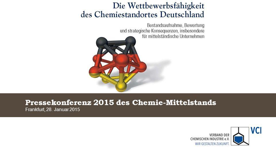 Wettbewerbsfähigkeit von Chemiestandorten im Vergleich VCI-Mittelstandspressekonferenz am 28.
