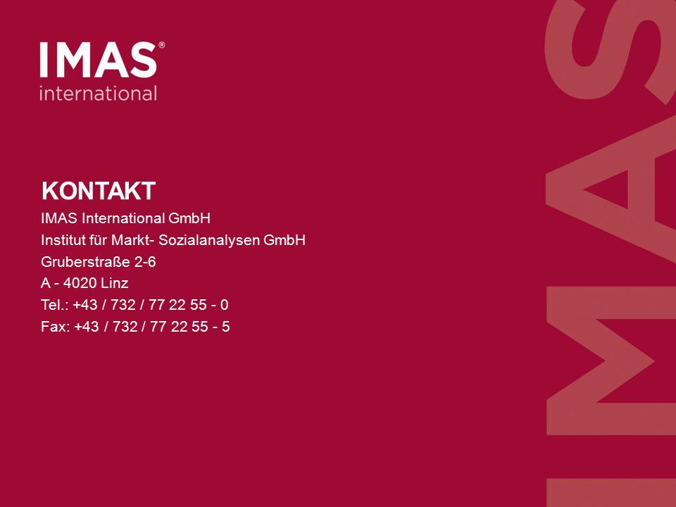 n=1010, Österreichische Bevölkerung ab 16 Jahren, Juli 2014, Archiv-Nr. 014071 KONTAKT IMAS International GmbH Institut für Markt- Sozialanalysen GmbH