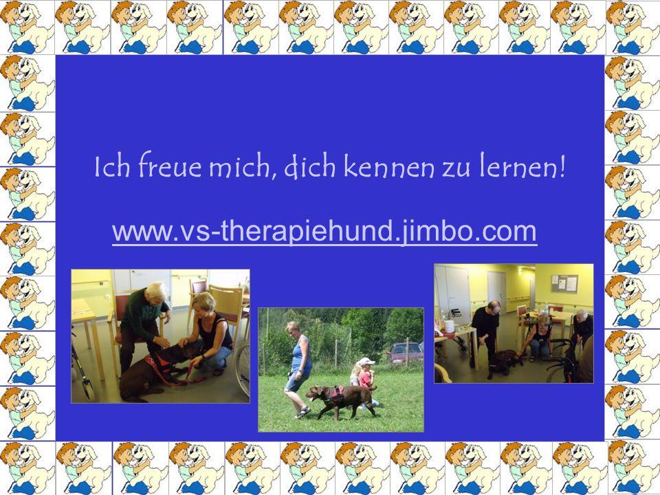 Ich freue mich, dich kennen zu lernen! www.vs-therapiehund.jimbo.com