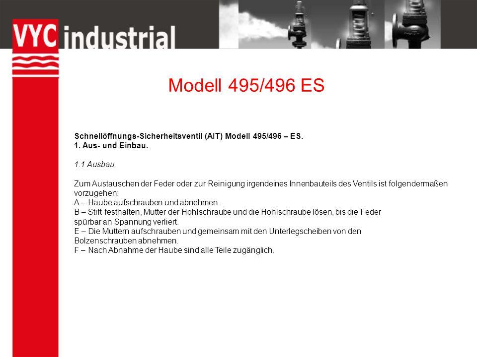 Modell 495/496 ES Schnellöffnungs-Sicherheitsventil (AIT) Modell 495/496 – ES.