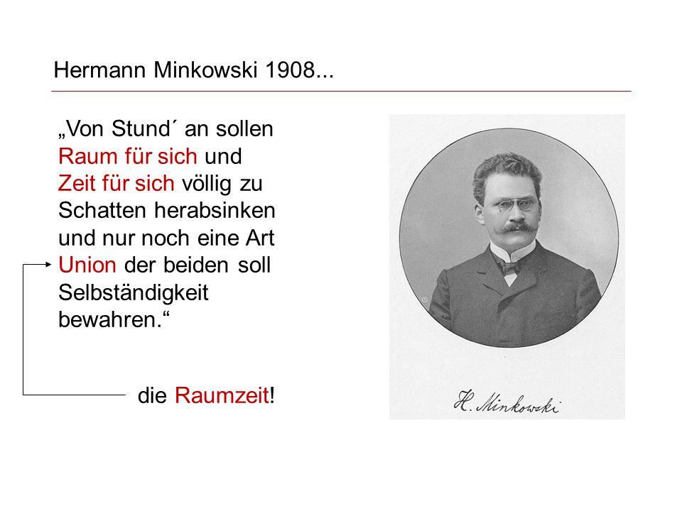 Hermann Minkowski 1908...