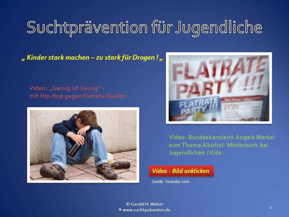 """Video: Bundeskanzlerin Angela Merkel zum Thema Alkohol- Missbrauch bei Jugendlichen / Kids Video: """"Genug ist Genug"""" - mit Hip-Hop gegen Flatrate-Saufe"""