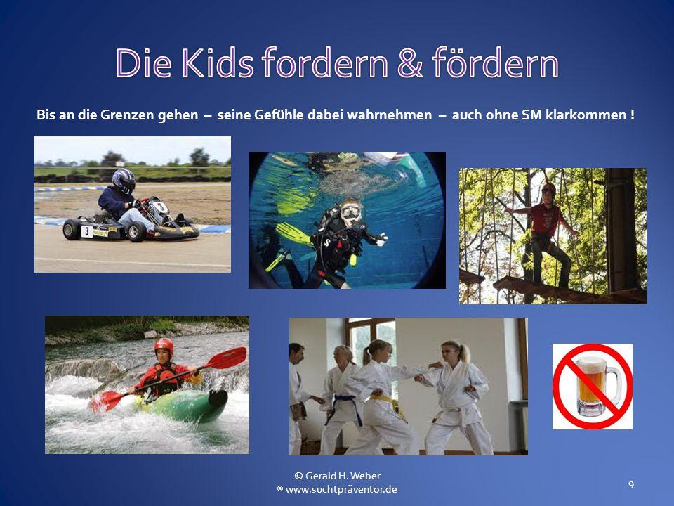 Bis an die Grenzen gehen – seine Gefühle dabei wahrnehmen – auch ohne SM klarkommen ! 9 © Gerald H. Weber ® www.suchtpräventor.de