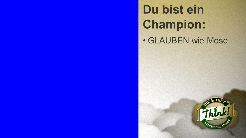 Champion 1 Du bist ein Champion: GLAUBEN wie Mose