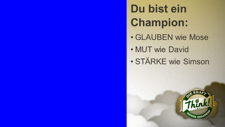 Champion 3 Du bist ein Champion: GLAUBEN wie Mose MUT wie David STÄRKE wie Simson
