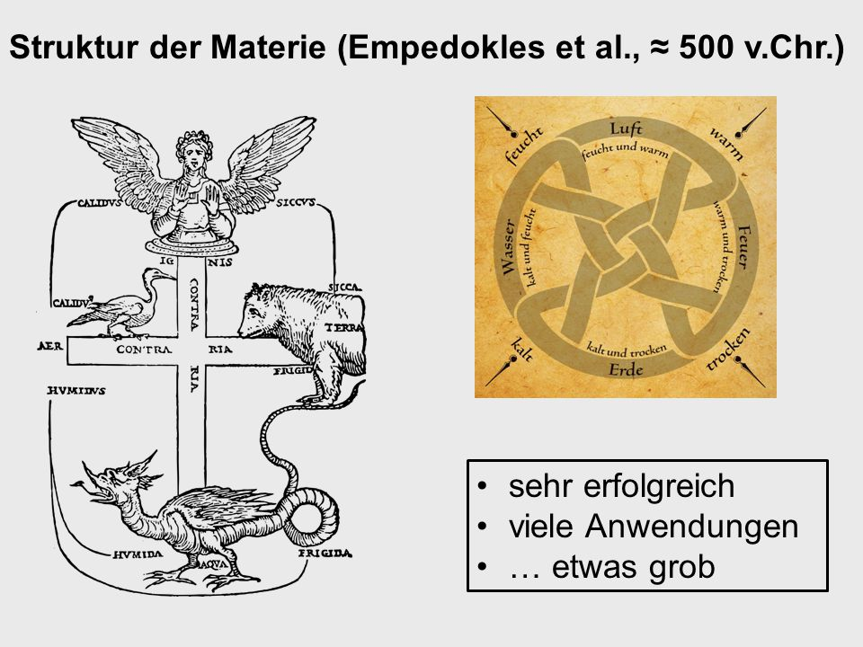 Struktur der Materie (Mendelejev, Meyer, 1869) Grundlage der modernen Chemie … aber subatomare/subnukleare Phänomene?