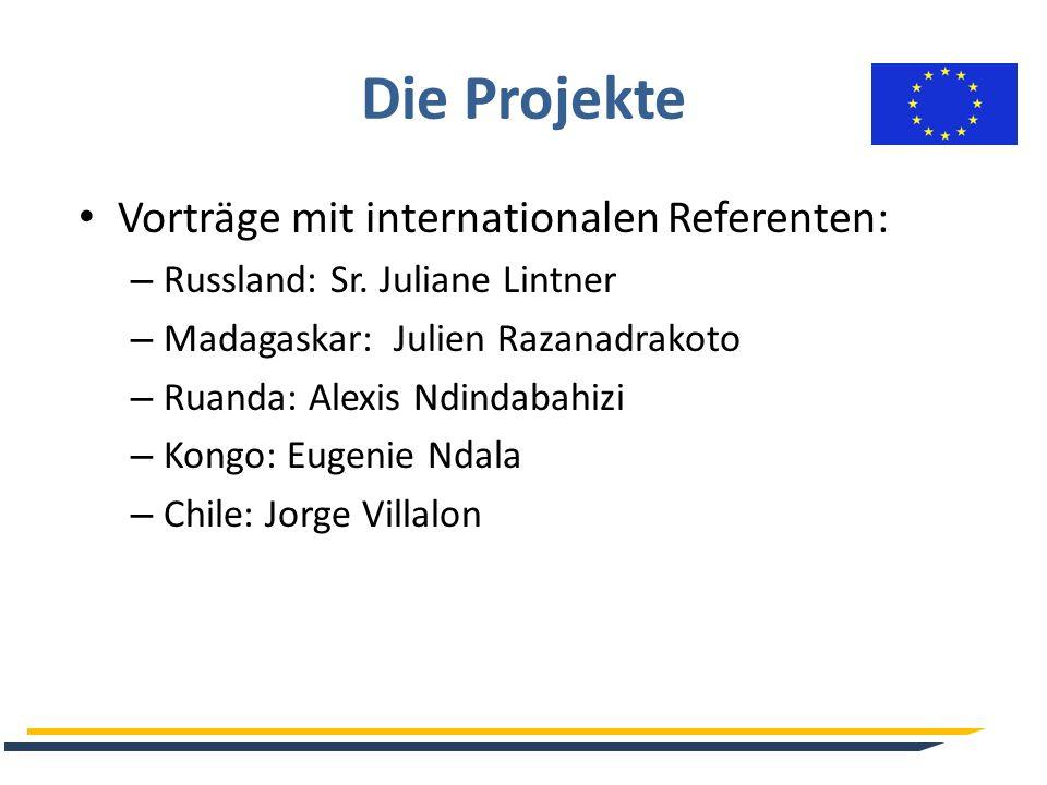 Die Projekte Vorträge mit internationalen Referenten: – Russland: Sr.