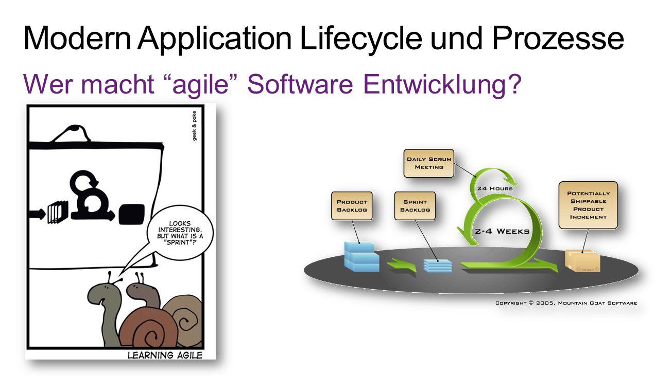 """Wer macht """"agile"""" Software Entwicklung?"""