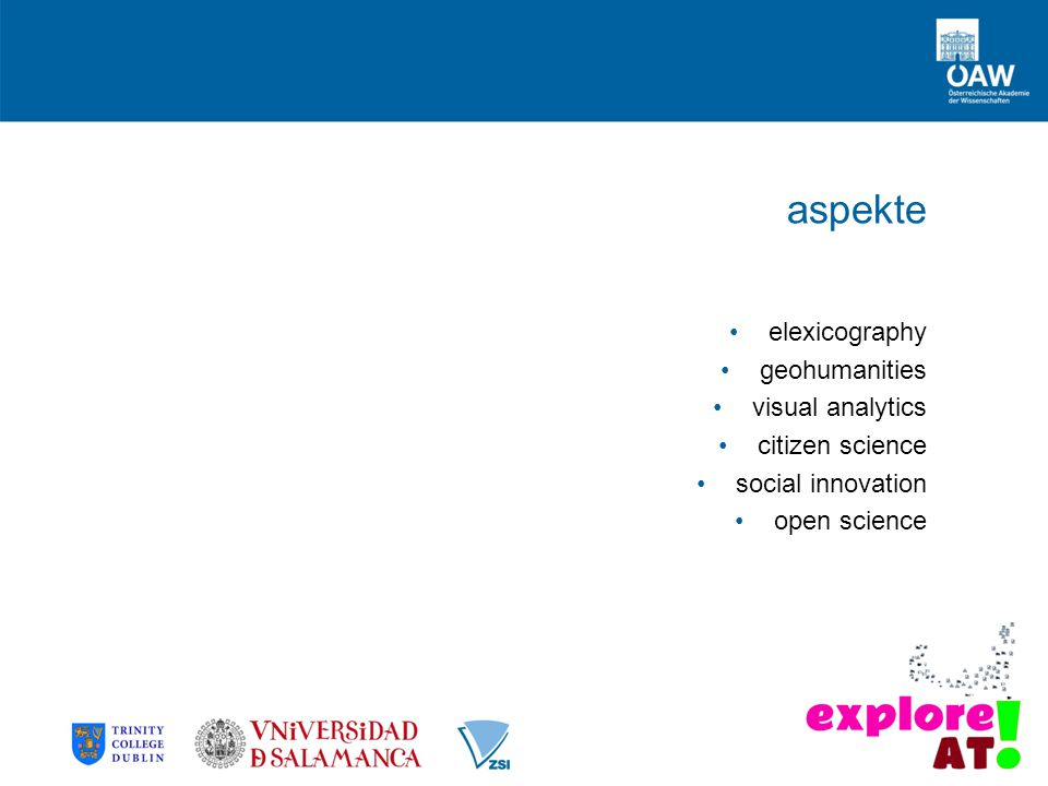 aspekte elexicography geohumanities visual analytics citizen science social innovation open science