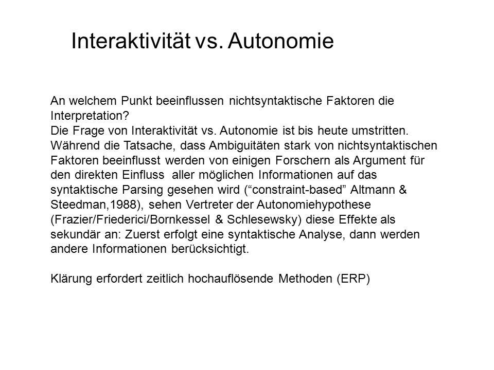 Interaktivität vs.