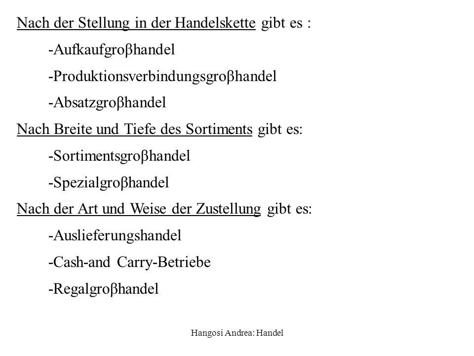 Hangosi Andrea: Handel 1.