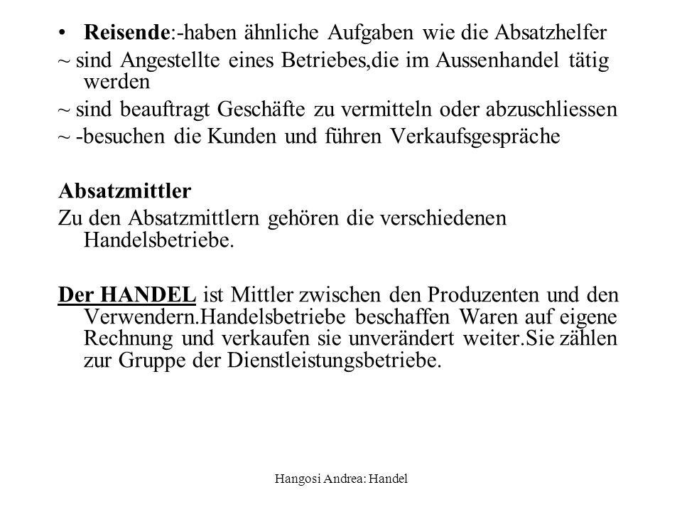 Hangosi Andrea: Handel 4.