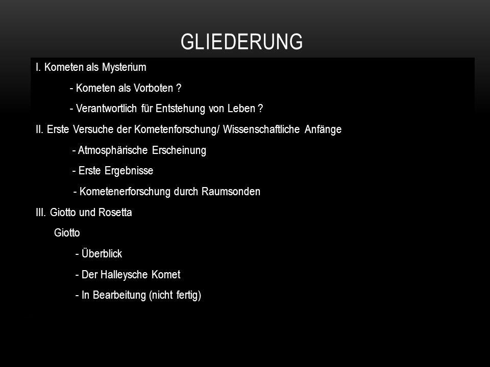 """Rosetta - Überblick - Herleitung des Namen - Churyumov-Gerasimenko - Orbiter - Philae – Der erste Kometenlander - """"Swing-by - Manöver IV."""