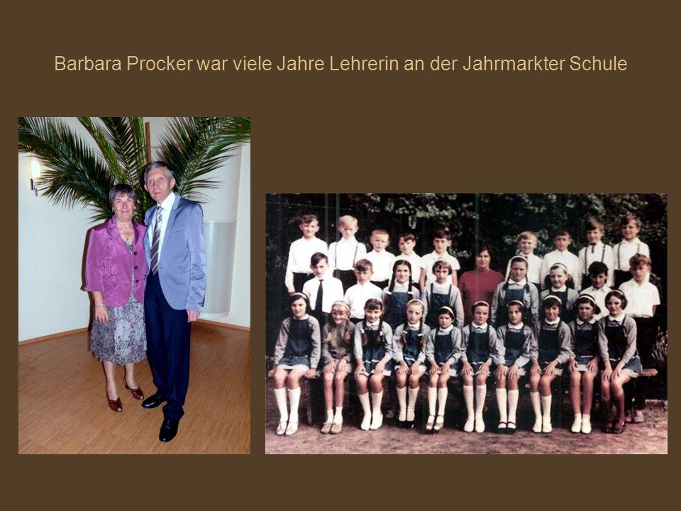 Barbara Procker war viele Jahre Lehrerin an der Jahrmarkter Schule