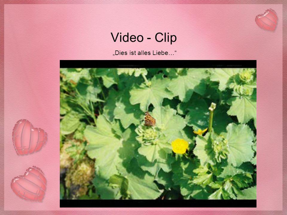 """Video - Clip """"Dies ist alles Liebe…"""""""
