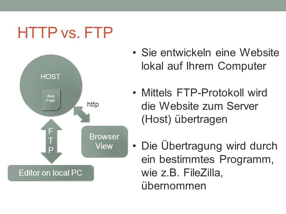 HTTP vs.