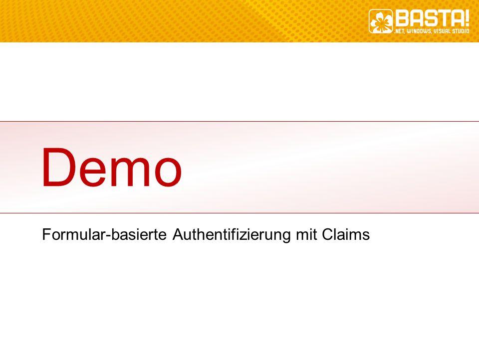 Formular-basierte Authentifizierung mit Claims Demo