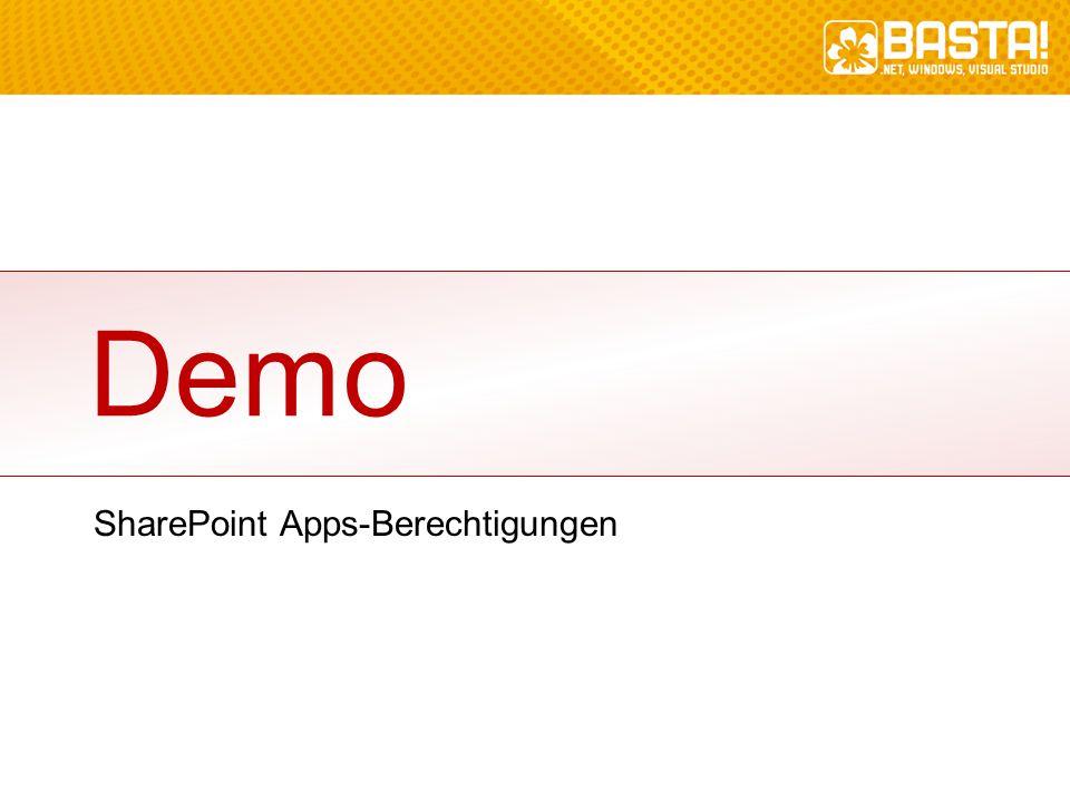 SharePoint Apps-Berechtigungen Demo