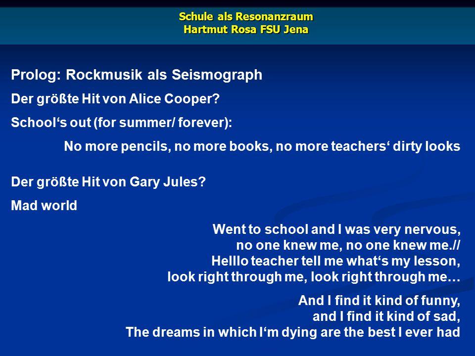 Prolog: Rockmusik als Seismograph Der größte Hit von Pink Floyd.