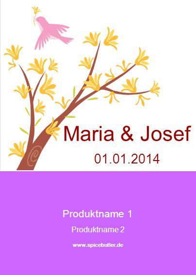 Produktname 1 Produktname 2 www.spicebutler.de Maria & Josef 01.01.2014