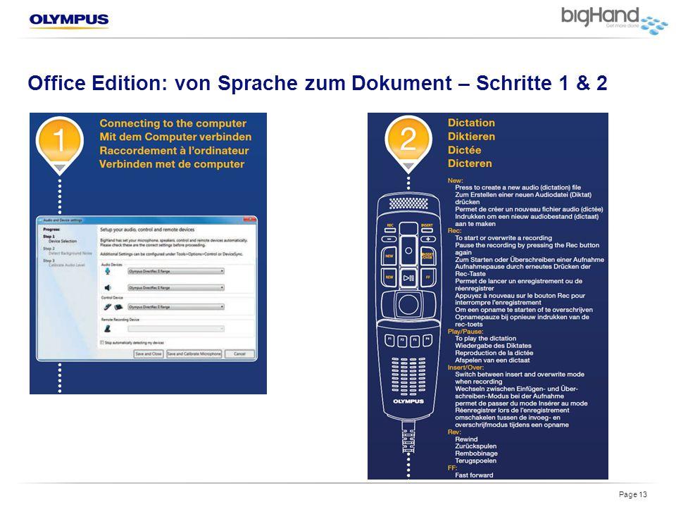 Office Edition: von Sprache zum Dokument – Schritte 1 & 2 Page 13