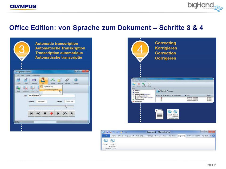 Office Edition: von Sprache zum Dokument – Schritte 3 & 4 Page 14