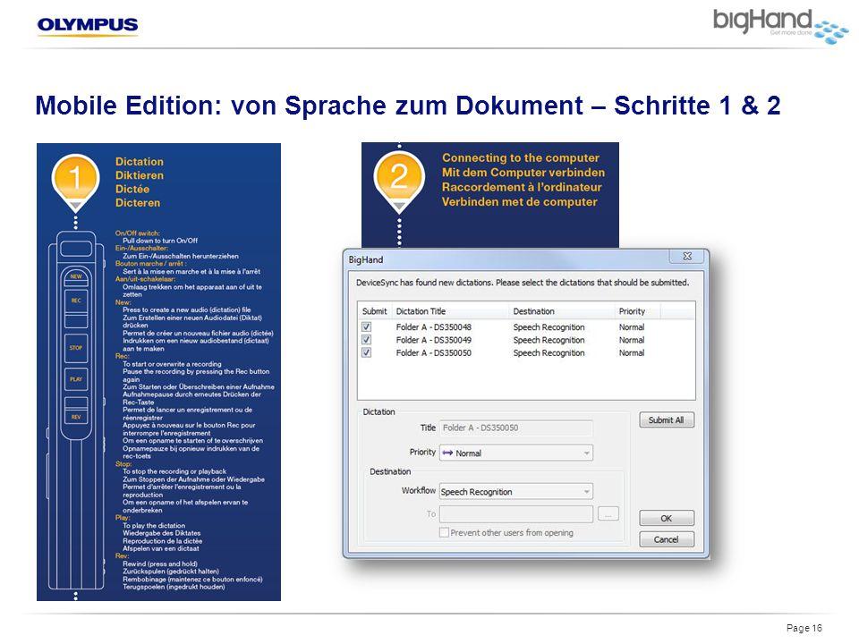 Mobile Edition: von Sprache zum Dokument – Schritte 1 & 2 Page 16