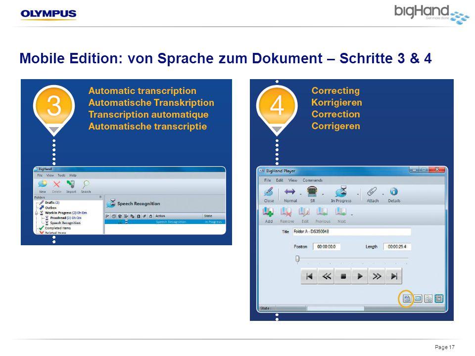 Mobile Edition: von Sprache zum Dokument – Schritte 3 & 4 Page 17